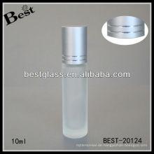 10ml Rolle auf Mattglasparfumflasche freie Probe, leere preiswerte Preisrollkugel-Glasflasche im Porzellan
