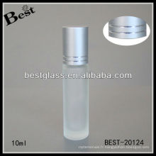Rouleau de 10ml sur l'échantillon gratuit de bouteille de parfum en verre givré, vide bouteille de verre de boule de rouleau de prix bon marché en Chine