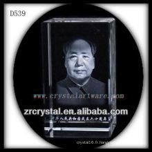 Président de la gravure laser 3D Mao Zedong