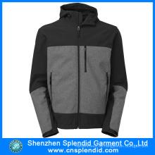 2016 China Herstellung konkurrenzfähiger Preis Softshell schwarz mit grauer Jacke