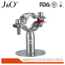 Sanitary Stainless Steel Pipe Holder with Plate