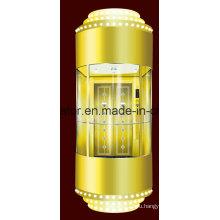 Панорамный лифт с украшением предметов роскоши