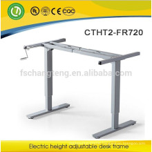 customer design office desk frame with height adjustable by manual rocker