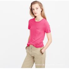 Sommer frauen pullover hemd 100% kaschmir stricken 14gg frauen tops pullover kleidung mit kurzarm