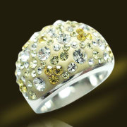 White Stone Crystal Ring Brass Copper Diamond Jewelry Rings (RSL3374)