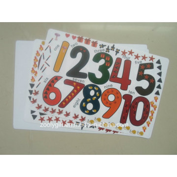 Figures Printing PP Learning Place Mat