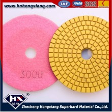 China Factory Direct Verkauf 100mm Resin Winkel Granit Boden Wasser Polieren Pads