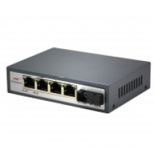 10 / 100Mbps Ethernet 4 Port Poe Switch prend en charge Poe Power Maximum 25,5 Watts