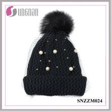 2016 sombreros hechos punto malla del temperamento de las señoras de la moda (SNZZM024)