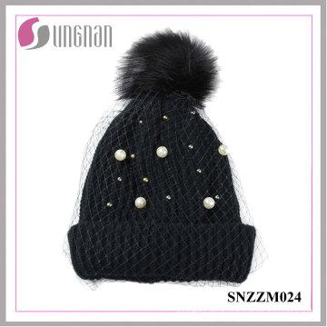 2016 Fashion Pearl Damen Temperament Mesh Strickmützen (SNZZM024)