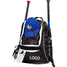 T-Ball Softball Helment Seperate Shoe Compartment Baseball Bat Bag, Basebal Backpack