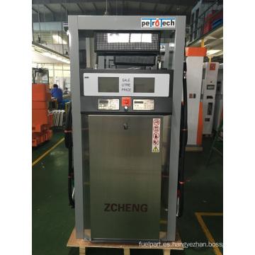 Zcheng gasolinera dispensador de combustible dos boquilla con LED