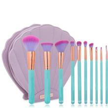 Hot Selling 10PCS Shell Bag Makeup Brush Set