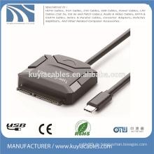 Typ-C zum SATA-Kabel USB 3.1 15 + 7-poliges Adapterkabel für hdd 2,5 '' 3,5 ''