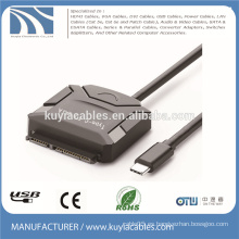 Cable de tipo C a SATA USB 3.1 Cable de adaptador de 15 + 7 pines para hdd 2.5 '' 3.5 ''