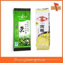 Usines de paquets de thé à l'aspirateur imprimé personnalisés avec gousset latéral