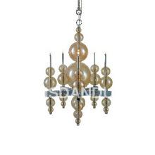 5 lights amber indoor chandelier lamp P168064/5
