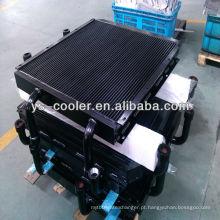 Trocador de calor de aleta de alumínio soldado de alta performance para guindaste