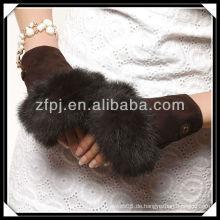 2013 neuer Ankunfts-Veloursleder-Palmepelz fingerless Handschuh