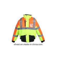 Großhandel Industrial Customed Hohe Sichtbarkeit Reflektierende Sicherheit Oxford Jacke