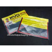 Bolsa de cebos de pesca con Ziplock / bolsa de plástico para el embalaje de cebos de pesca