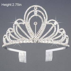 Coroa de cristal pequena da altura de 2.75in