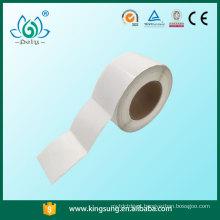 Rolos de papel de transferência térmica, rolo de papel autocolante em branco, etiqueta de código de barras
