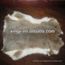 pieles de conejo de liebre de color marrón natural de piel de conejo de alta calidad