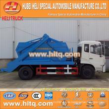 10cbm 190hp schwingender Arm Müllwagen rollen ab Müllwagen Sanitär Fahrzeug DONGFENG 4x2 gute Qualität niedrigen Preis