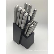 15pcs en acier inoxydable couteau ensemble