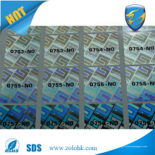 Anti-falsificação de etiquetas de segurança holográfica 3D, etiqueta de etiqueta de holograma de segurança para impressão