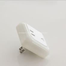 Carregador USB de 5V 3.1A com Lâmpada LED de Noite