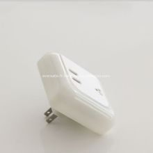 Chargeur USB 5V 3.1A avec veilleuse LED