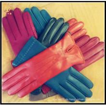 ZF0238 Neue Ankunft Schaffell nette feine lederne Handschuhe