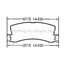 D325 04466-33110 auto parts brake pad for Toyota Lexus