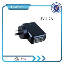 Adaptateur d'alimentation multiple Chargeur de voyage USB pour iPad iPhone Chargeur mural Us / EU / UK / Au Plug