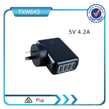 Carregador múltiplo do curso do adaptador do poder para o carregador da parede do iPhone do iPad nós / UE / Reino Unido / plugue do Au