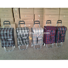 Supermarket Hand foldable shopping cart ,luggage cart ,shopping trolley bag