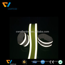 silver high light 3m fluorescent reflective elastic strapping belt band strap