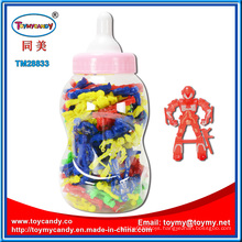 Nursing Bottle with Plastic Robot Toy Inside
