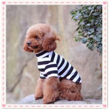 Camisa de cão pequeno, pet filhote de cachorro meninos roupas de verão cão de estimação gato tarja camisa t camisa bonito