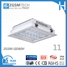 80W Outdoor Lighting LED Canopy Light for Gas Station