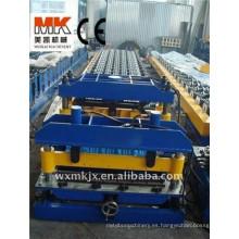 Coloree la máquina de formación automática del rollo de acero de la baldosa esmaltada, línea de proceso de techumbre