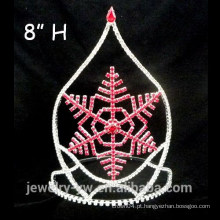 Atacado cristal vermelho copo de neve concerto de Natal coroas