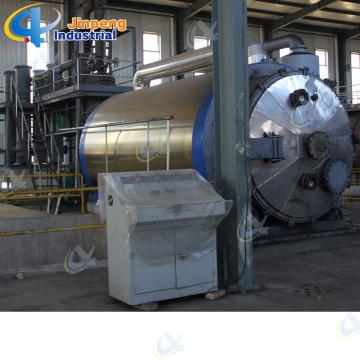 Máquina de pirólise plástica de resíduos de incinerador de carbono preto