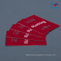 Custom logo red color art paper Clothing Hang Tag factory price