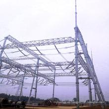 Arquitectura de subestación de transmisión de potencia de tubo de acero de 500 kV