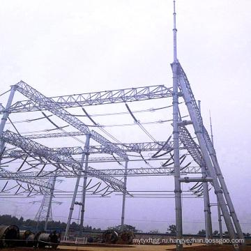 Архитектура подстанции для передачи энергии из стальных труб 500 кВ