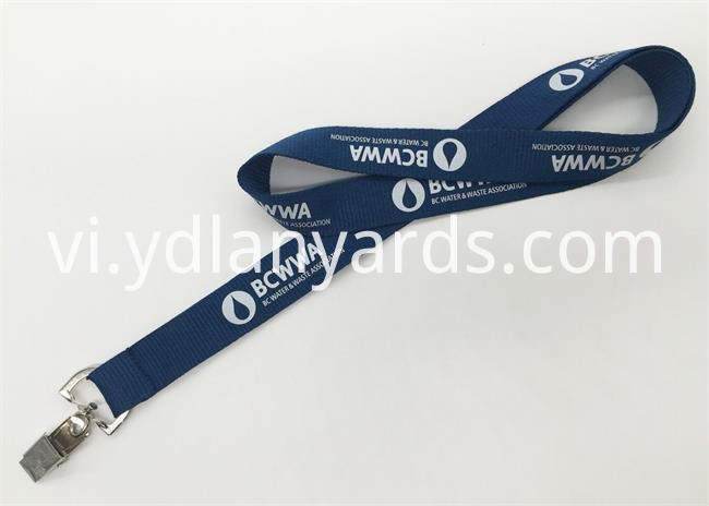 Polyester Silk Screen Lanyards