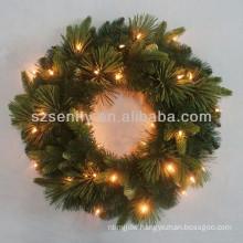 "24"" LED lights Decorative Christmas wreath"